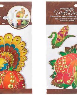 Ganz-Thanksgiving-Wall-Window-Turkey-And-Cornucopia-Stickers-Set-of-2-ER23780-290968063294