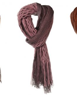 Ganz-Womens-Autumn-Fall-Two-Tone-Knit-Fringe-Scarf-ER28351-290964998994