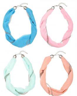 Ganz-Womens-Spring-Colors-Scarf-Twist-Necklace-ER26511-291066969755