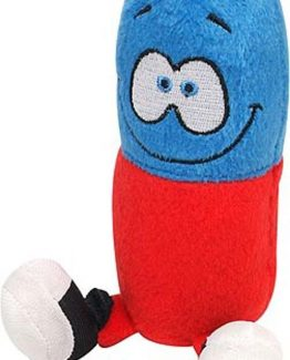 Just-For-Laughs-Giggling-Plush-Happy-Pill-Blue-and-Red-901B-291323481509