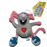 Just-For-Laughs-Plush-4-Tall-I-Like-You-Talking-Mouse-Keychain-796-291112958456