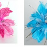 Lillian-Rose-Wedding-Prom-Hot-Pink-Or-Aqua-Blue-Feather-Hair-Clip-Or-Pin-JL235-291264744559