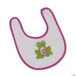 Maison-Chic-Baby-Girl-Green-Frog-Appliqu-Bib-31568-300952232004