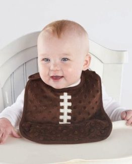 Mud-Pie-All-Boy-Baby-Boy-Sports-Brown-Minky-Football-Pocket-Bib-1552055-301244458995
