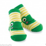 Mud-Pie-Baby-Boy-Cute-Yellow-White-Striped-Green-Frog-Shoe-Socks-0-12Mo-178518-300869796264