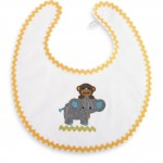 Mud-Pie-Baby-Unisex-BoyGirl-Safari-Cotton-Crochet-Monkey-Elephant-Bib-352173-290885154601