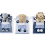 Mud-Pie-Layette-Baby-Boy-Elephant-Bear-Lion-Blue-Pocket-Burp-Rattle-Set-159-301586109997