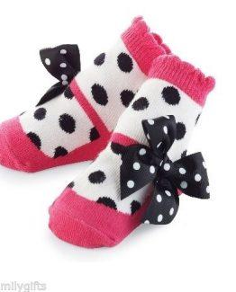 Mud-Pie-Sock-Hop-Baby-Girl-Pink-Mary-Jane-Polka-Dot-Zoey-Socks-176266-291285573597