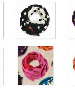 Mud-Pie-Winter-Womens-Dot-Convertible-Infinity-Scarf-Multiple-Colors-850001-300810058201