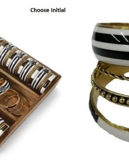 Mud-Pie-Womens-Jewelry-Chelsea-Initial-Bangle-Bracelet-Set-of-4-8603130BK-291446934626