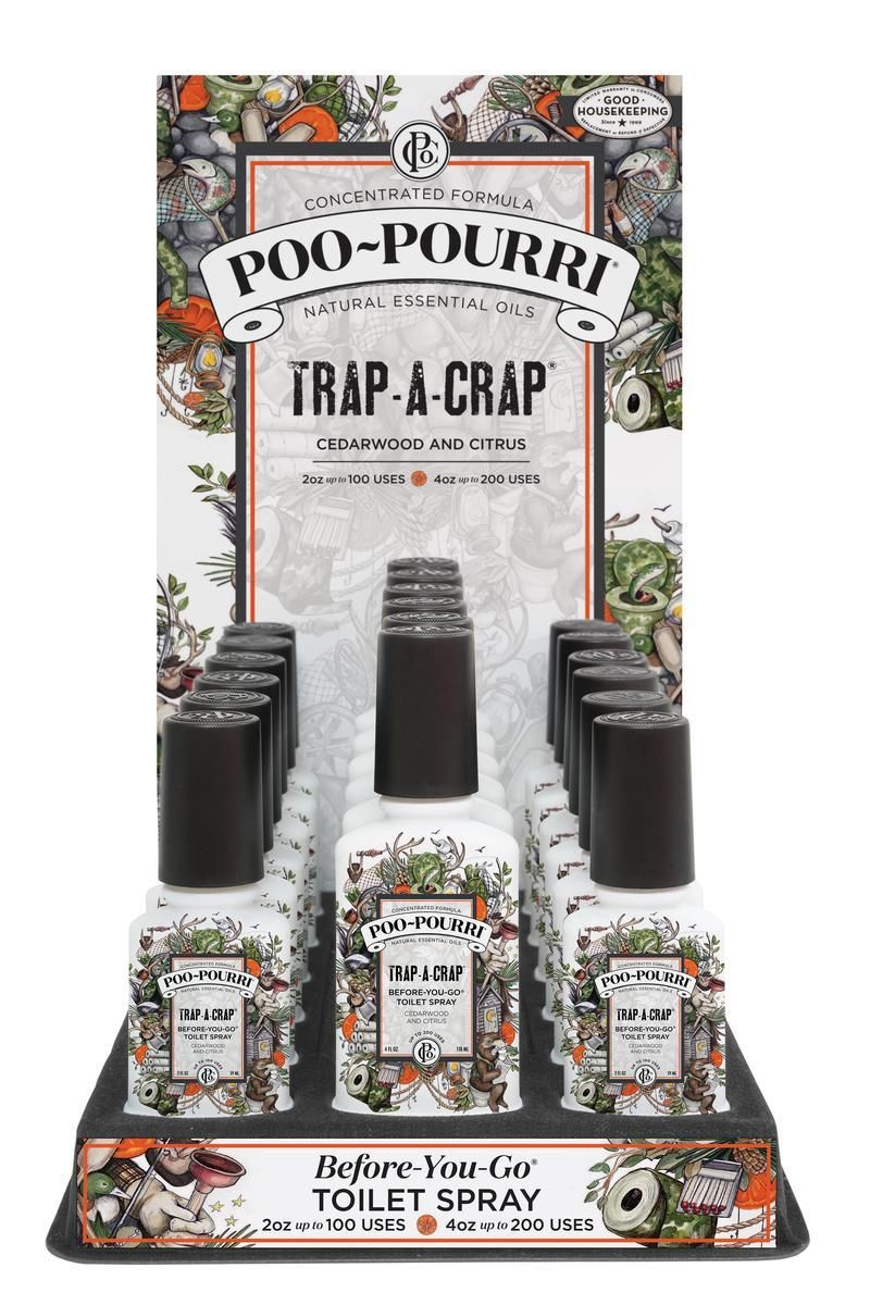 PooPourri E Bathroom Spray Odor Neutralizer TrapACrap TRAPCB - Bathroom odor neutralizer