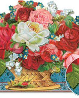 Punch-Studio-Beautiful-Elegant-Rose-Basket-Dimensional-Gift-Card-Set-of-2-58720-290788604399