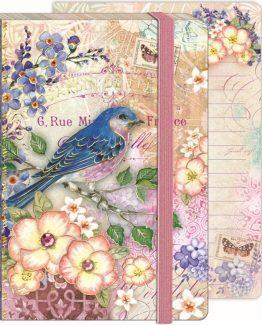 Punch-Studio-Everyday-Soft-Cover-Bungee-Journals-Blue-bird-Garden-45501-301600111234