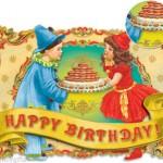 Punch-Studio-Glitter-Embellished-Dimensional-Gift-Card-Set-of-2-Clown-58754-300924587809