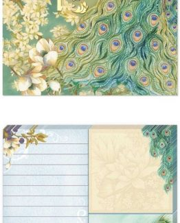 Punch-Studio-Large-Sticky-Note-Pad-Portfolios-Peacocks-In-The-Garden-43013-291372900242