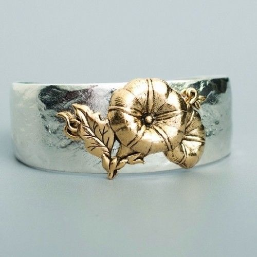 Variation-of-Beaucoup-Designs-Aimez-Birth-Month-And-Flower-2-Tone-Cuff ...