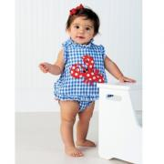 Mud Pie Boathouse Girl Little Pincher Pinafore & Bloomer Set (12-18M)