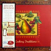 "Deluxe Recipe Scrapbook Binder with Notepad Cooking Traditions ""Pear"" Album by Kim Poloson"
