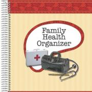 "Family Health Organizer Book 8""x10"" 25 pages 14 pockets"