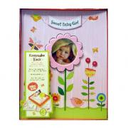 Cute Baby Girl - Baby's First 5 Years Keepsake Book with Box