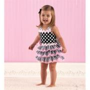 Mud Pie Perfectly Princess Ribbon Ruffle Sundress (2T-3T) - 167049-2T