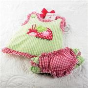 Mud Pie Lil' Chick Lady Bug Pinafore and Bloomer Set (12-18M) - 176001-18
