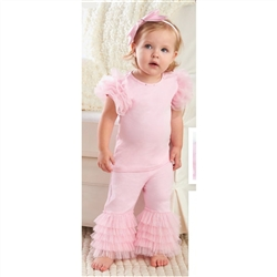 Mud Pie Pretty in Pink beautiful Girl Disco Set (0-6M)