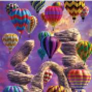 "3D Motion Bookmarktrenz Poster - Hot Air Balloons 9""x18"""