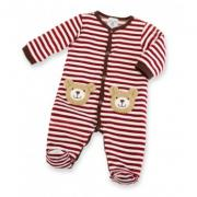 Mud Pie Santa's Workshop Bear Velour One Piece (9-12M) - 352607-12