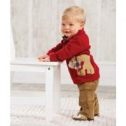 Mud Pie Santa's Workshop Bear Polo and Pant Set (12-18M)
