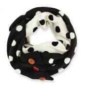 Mud Pie Bundled Up Black/Pearl Dot Convertible Infinity Scarf-850130