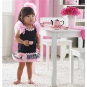 Mud Pie Perfectly Princess Chiffon Ruffle Shift Dress (12-18M) - 167045-18