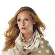 Mud Pie Bundled Up Oatmeal/Pearl Dot Convertible Infinity Scarf-850132