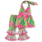 Mud Pie Little Sprout Floral Halter Pant Set (9-12M) - 167611-12