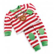 Mud Pie Santa's Workshop Reindeer Long Johns (9-12M) - 130253-12