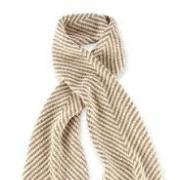 Mud Pie Winter Warm-Up Oatmeal/Pearl Herringbone Convertible Infinity Scarf-850125