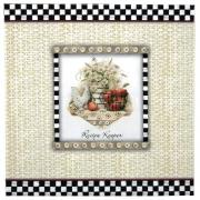 Deluxe Recipe Scrapbook Binder Apples & Roosters Album