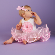 Mud Pie Baby Buds Pink Buds Tutu Dress (0-6M) 192069