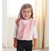 Mud Pie Pretty in Pink Girl Pink Fur Vest (12-18M) - 176188-18