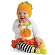Mud Pie Baby Girl Trick Or Treat Pumpkin Skirt Set (9-12M)
