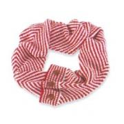 Mud Pie Winter Warm-Up Ruby/Pearl Herringbone Convertible Infinity Scarf
