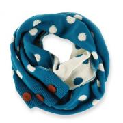 Mud Pie Bundled Up Sapphire/Pearl Dot Convertible Infinity Scarf-850129