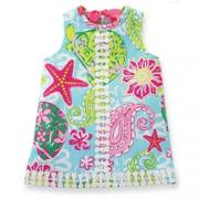 Mud Pie Adorable Girl Lily Pad Shift Dress (2T-3T)