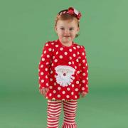 Mud Pie Little Elves Santa Tunic and Legging (2T-3T) - 131259-2T